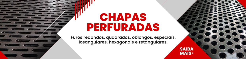 Chapas Perfuradas - Furos Redondos, Quadrados, Oblongos, Losagulares, Hexagonais, Retangulares e Decorativos Sob Medida Com Qualidade