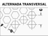 Chapas Perfuradas Furos Hexagonais Disposição Longitudinal