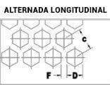 Chapas Perfuradas Furos Hexagonais Disposição Alternada Longitudinal