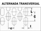 Chapas Perfuradas Furos Oblongos Disposição Alternada Transversal