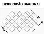 Chapas Perfuradas Furos Quadrados Disposição Diagonal