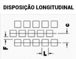 Chapas Perfuradas Furos Quadrados Disposição Longitudinal